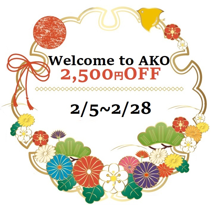 Welcome_to_AKOキャンペーン2500円引き